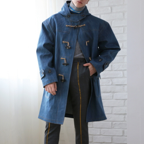 Blue Selvedge Denim Duffle Coat