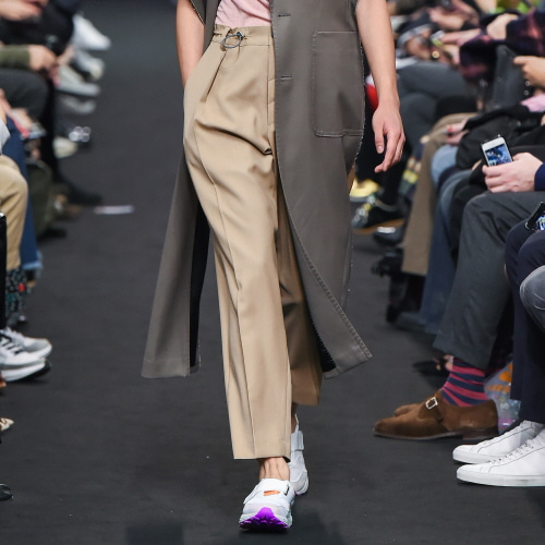 Beige Double-Drawstring Trousers