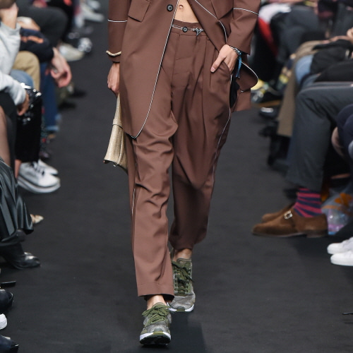 Brown Double-Drawstring Trousers