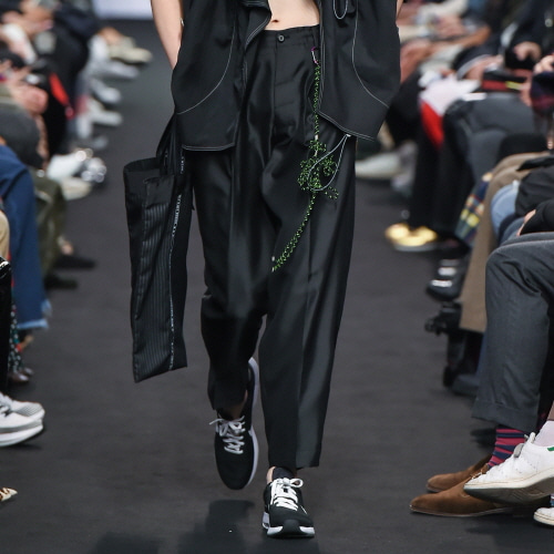 Black Double-Drawstring Trousers