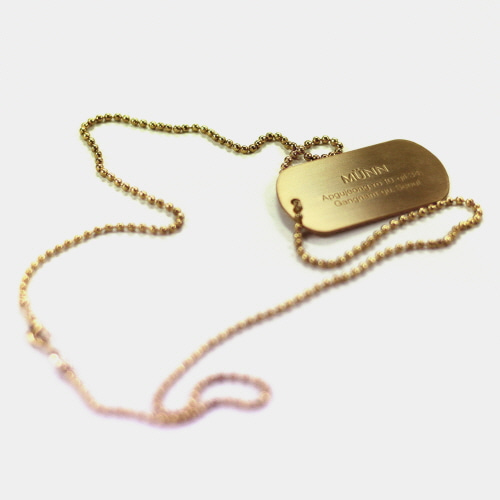 Gold Serial Number Chain Necklace