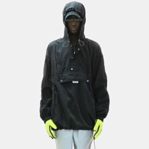 Black Nylon Anorak
