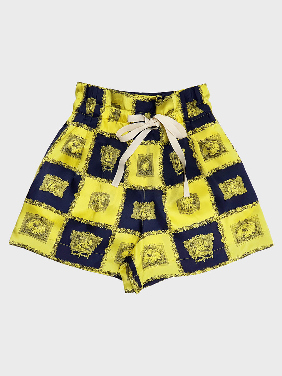 Yellow Silk String Shorts